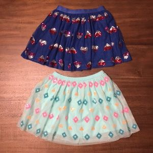 Cat and Jack Sequin design Skirts. Girls Size 6/6X